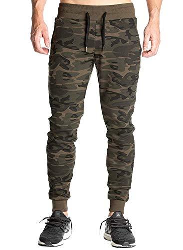 Peppyzone Men's Trackpants Regular Fit Track Pants (LR-89_Green_XL)