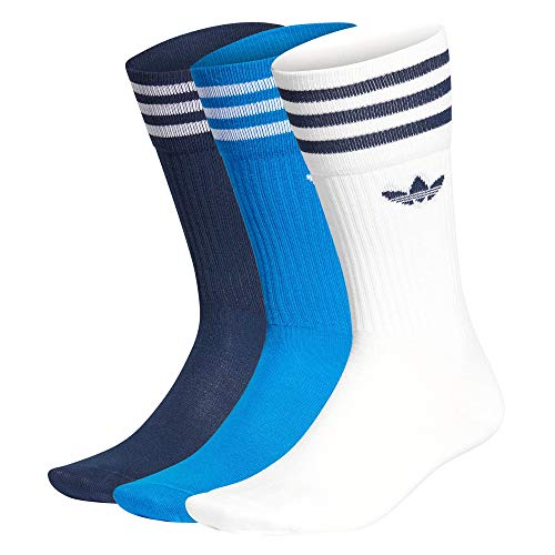 adidas Solid Crew Sock calze autoreggenti, White/Globlu/Conavy, 4346 Uomo