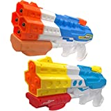 Water Guns Water Blaster Squirt Guns Blaster Soaker for Kids,2000CC Large Capacity,for Summer Water Fighting Toy Outdoor Pool Beach Yard Adults Swimming Party Water Shooter Fighting Games (2pack)
