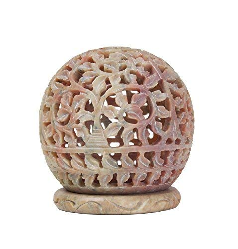 Ajuny Handmade Soapstone Tealight Vovita Candle Holder Perfect For Party Holiday Christmas Decoration Artisan Crafted In India