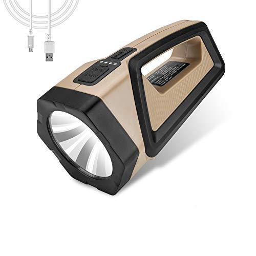 Linkax Linterna LED de alta potencia Linterna recargable para acampar 7200mAh Linterna de camping Luz de trabajo para senderismo, pesca, cortes de energía, emergencia