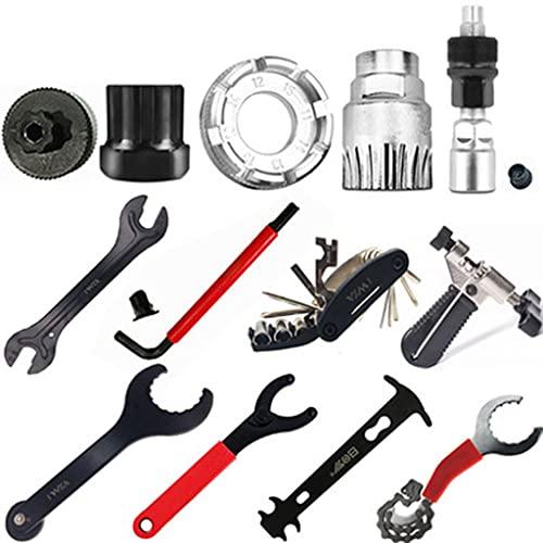 DANLINI Bike Tool Kit Fahrradreparatur-Werkzeugkasten Kompatibles Werkzeugset für die Wartung von Mountainbikes/Rennrädern, 5