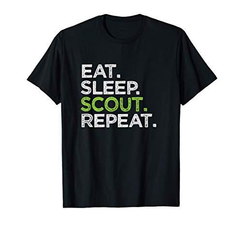 Lindo Eat Sleep Scout Repite el regalo del líder de Cub Love Camiseta