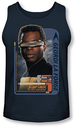 Star Trek - - Geordi Laforge Tank-Top pour hommes, XX-Large, Navy