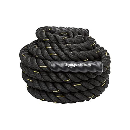 Amazon Basics - Cuerda de batalla para entrenamiento pesado, de 5 cm x 15 m