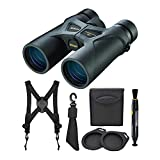 Nikon 8x42 ProStaff 3S Binoculars (Black) with Nikon Lens-Pen & Harness Bundle (3 Items)