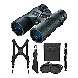 cheap Nikon 8×42 ProStaff 3S binoculars (black), with Nikon grip lens and safety belt (3 pieces)