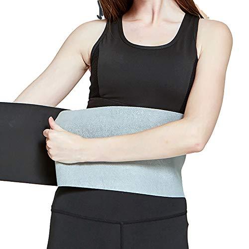 SKAL Fitnessgürtel Bauchgürtel Schwitzgürtel Bauchtrainer Herren Damen Frauen Fitness gürtel Sports (Hellgrau)