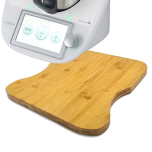 Gleitbrett Rollbrett für Thermomix TM6 / TM5 - Mühelos Brett aus Bambus, Rutschbrett Unterlage für Vorwerk Küchenmaschine TM5 / TM6