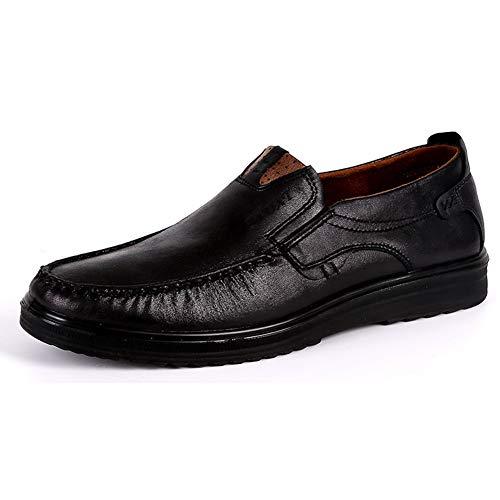 Męskie nieformalne płaskie mokasyny Ręcznie robione skórzane klasyczne mokasyny Męskie modne Oddychające buty do jazdy
