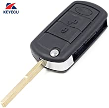 Keyecu Replacement Flip Remote Car Key Fob 315MHz PCF7941 for LR3 Range Rover Sport 2005-2011 FCC ID:NT8-15K6014CFFTXA
