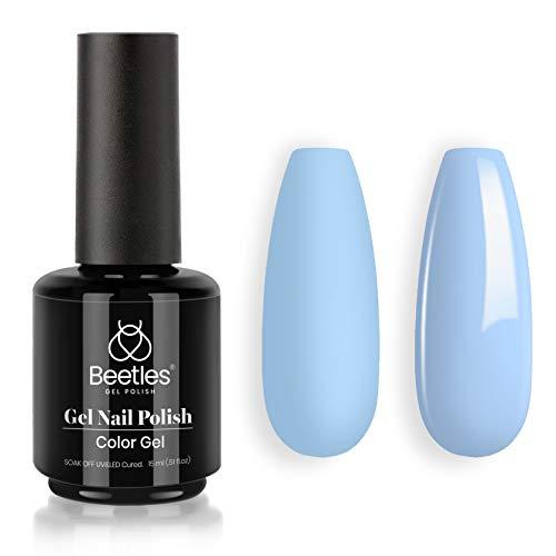 Beetles Gel Nail Polish, 1Pcs 15ML Blue Color Soak Off Gel Polish Nail Art Manicure Salon DIY at Home