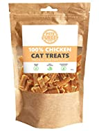 Pets Purest Natural Cat Treats - 100% Pure Chicken Nibble Dry Food Treat Snack Mix Chew Sticks for C...