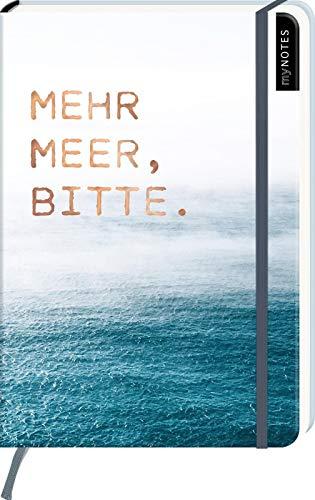 myNOTES Notizbuch A5: Mehr Meer, bitte. - notebook medium, dotted - für Träume, Pläne und Ideen / ideal als Bullet Journal oder Tagebuch