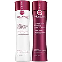 Keranique Growth and Thinning Hair Shampoo and Conditioner Set, 8 Fl Oz
