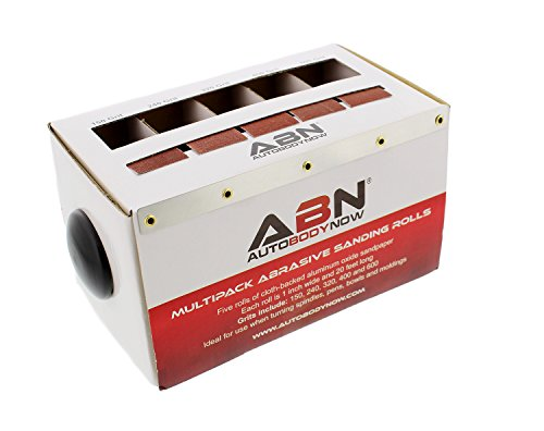 ABN Abrasive Paper 5pc Sand Paper Variety Pack with Dispenser – 150, 240, 320, 400, 600 Grit Aluminum Oxide Sandpaper