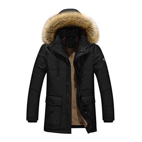 Adelina heren winterjas hoodie Coat Parka jongens winterjas warme capuchon ski-jas met fluwelen voering materiaal winter coats zwart kaki