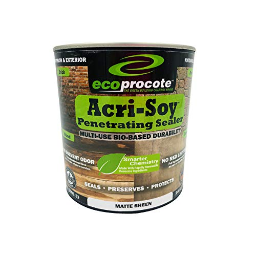 Acri-Soy Penetrating Concrete and Wood Sealer | Grout Sealer | Concrete Countertop Sealer | Natural...