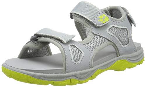 Jack Wolfskin Jungen Puno Beach Sandal B, Sport Sandalen, Grau (Slate Grey 6046), 34 EU