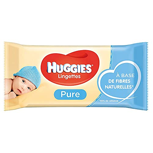 Huggies Pure Baby Wipes Bulk - 99 Percent Water, Sensitive, Fragrance Free, 18 Packs, 56 Count (1,008 Wet Wipes Total)