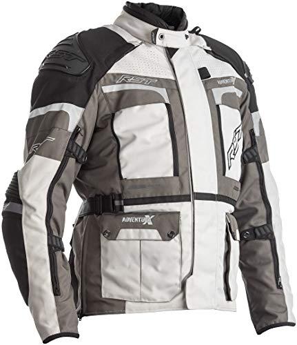 RST Pro Series Adventure-X CE Chaqueta de moto textil plateada gris para hombre...