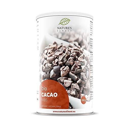 Bio-Kakaosplitter 250 g | Biologisches, rohes Supernahrungsmittel | Hoher Gehalt an Protein, Ballaststoffen, Eisen und Magnesium | Vegan und vegetarisch