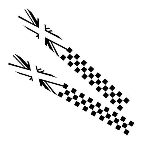 Eastar 2 Adhesivos de Vinilo para decoración de Lado del Cuerpo del Coche para Mini Cooper Countryman