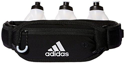 adidas Run Bott Belt 3 Cinturón Porta Botellas, Unisex Adulto, Negro/Gris/Plata, Talla Única