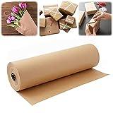 Geschenkpapier,Weihnachten,Hochzeiten,12 Zoll 100 Fuß Kraftpapierrolle Recyclingpapier für...