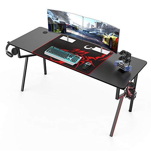 Eureka Gaming Schreibtisch 160 * 60 cm Gaming Tisch Gaming Computertisch PC Schreibtisch mit...