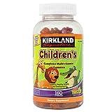 Kirkland Signature Childrens' Complete Multivitamin Gummies 160 Count (Orange, Cherry, and Green Apple)
