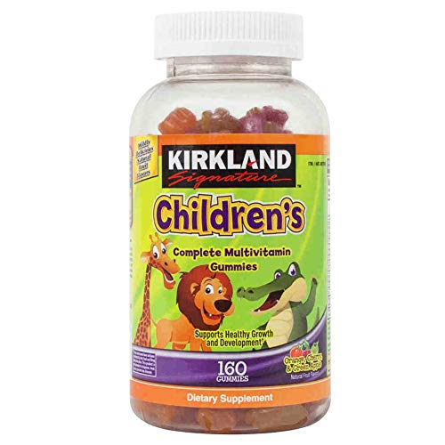 Kirkland Signature Childrens' Complete Multivitamin Gummies 160 Count (Orange, Cherry, and Green Apple)