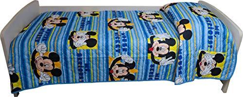 Disney Trapuntino per letto singolo disegno Topolino Mickey 170 x 250 centimetri