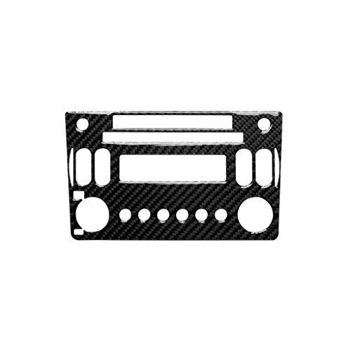 WANGZHEXIA Etiqueta decorativa del panel del reproductor de la radio del CD de la fibra del carbono del coche de la tira de la protección del coche para Nissan 350z 2006-2009