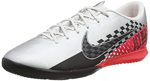 Nike Men's Futsal Shoes, Multicolour Chrome Black Red Orbit Platinum Tint 6, 8.5 UK