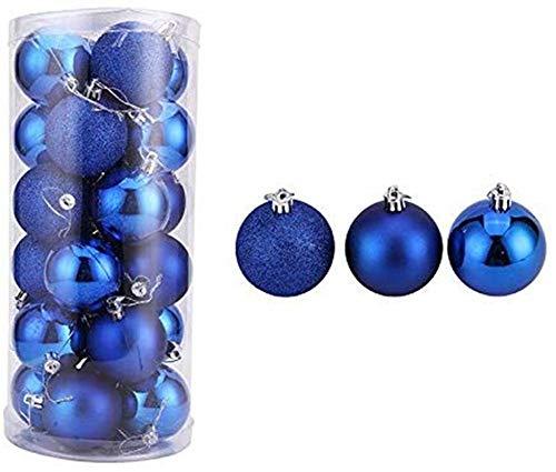 Hunterace 24PCS 4CM Bolas de Navidad Bolas Árbol de Navidad Bola Adornos Azules Decoración de Navidad- # 6