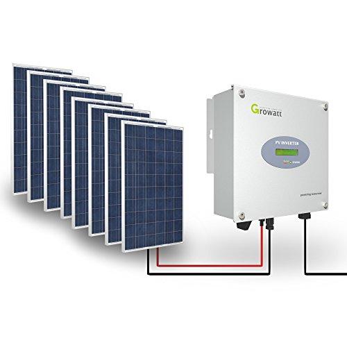 Growatt Solar Set 2000-S PV Inverter 2000 W Wechselrichter Solar 1-phasig Display