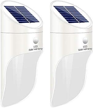 2-Pack Sonkoo Solar Porch Light