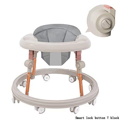YUMEIGE Lauflernhilfen Gehfrei lauflernhilfe Keine Installation erforderlich, Lauflernhilfe mit 8 Gummirädern, Lauflernhilfe mit Maximale Belastung 100 kg 5 Farben (Color : Gray)