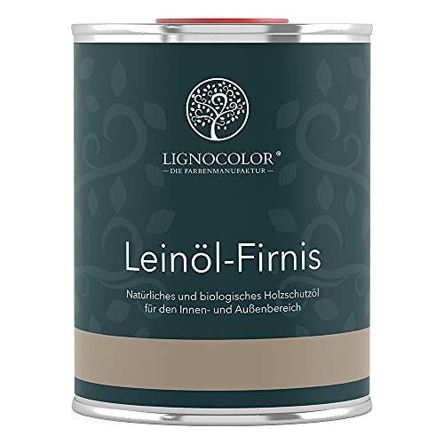 Lignocolor Leinöl-Firnis 1L Holzöl für den Innen- und Außenbereich