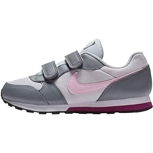 Nike Mädchen Md Runner 2 (PSV) Leichtathletikschuhe, Mehrfarbig (Pure Platinum/Pink Foam/Cool Grey 017), 28.5 EU