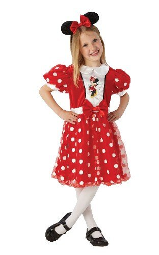 Rubie's-déguisement officiel - Disney- Costume Luxe Glitz Minnie Rouge - Taille S- I-886823S