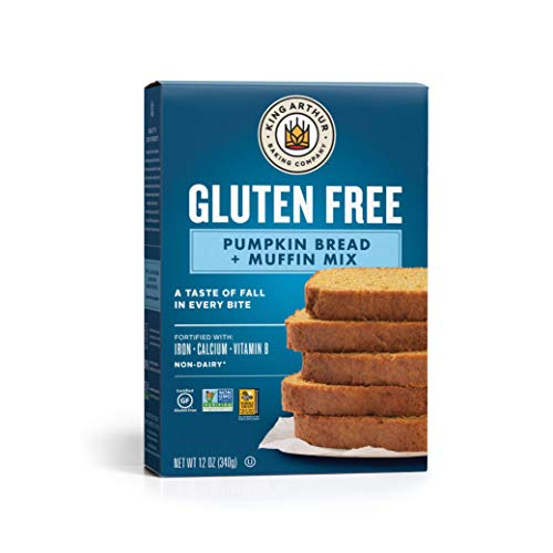 King Arthur, Gluten Free Pumpkin Bread + Muffin Mix, Gluten-Free, Non-GMO Project Verified, Certified Kosher, 12 Ounces