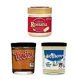 Mix creme spalmabili 3 barattoli di Bounty, Rossana ecc Chocolate Spread 3 x 200 gr