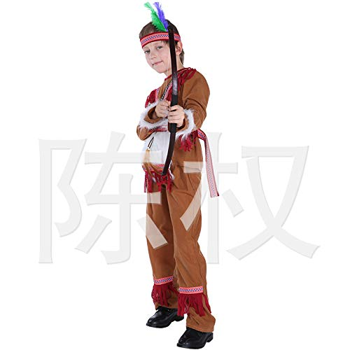 Avsvcb Cosplay Disfraz de Navidad para niños Regalo de Novedad de Halloween Disfraz de príncipe Indio Disfraz de actuación Disfraz de Cazador de Disfraces