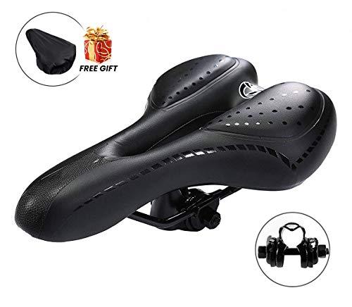 Charlemain Selle Velo, Selle VTT Gel Selle de Vélo Selle Vélo Confort Convient pour...