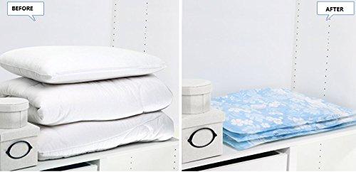 80 * * * * * * * * 60 cm (78,7 cm × 61 cm) Lot de 7 Sac de compression sous vide économie d'espace comprimé sacs de rangement pour vêtements tthick courtepointes Space Saver Sacs