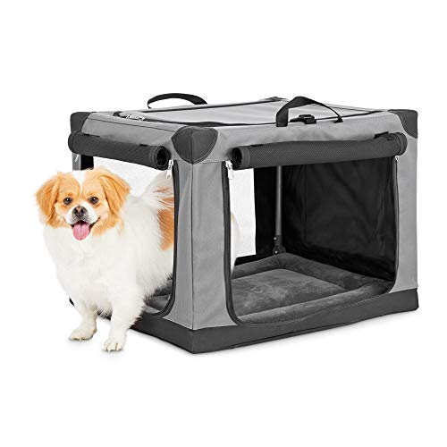 "Animaze Portable Canvas Dark Grey Dog Crate, 24"", Small Basic Crates"