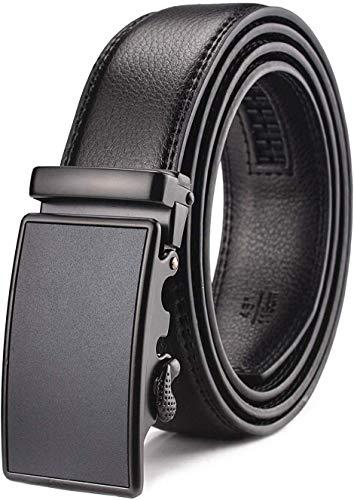 WETOPER Herren Gürtel Ratsche Automatik Gürtel für Männer 35mm Breit Ledergürtel, Type:02, Länge 130cm Geeignet für 28-45 taille