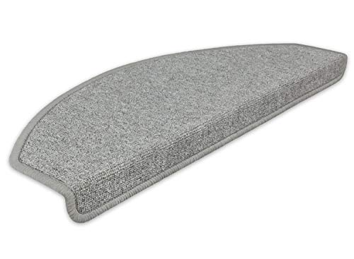 Kettelservice-Metzker Stufenmatten Treppen-Teppich Rambo 15er SparSet 17 Farben (-A-Hellgrau-)